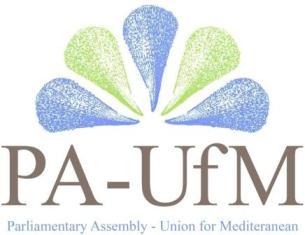 logo Assemblea Parlamentare per l'Unione per il Mediterraneo