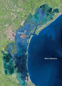 laguna di venezia da satellite